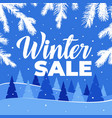 winter sale for banner and vector image vector image