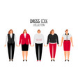 women dress code vector image vector image