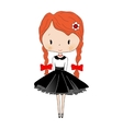 Cute little girl Beautiful princess Toy isolated vector image
