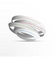 3d white rings vector image