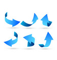 3d blue arrows set in different angles vector image vector image