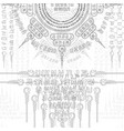 abstract grey symbols pattern wallpaper vector image vector image