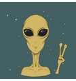 Alien hand drawn vector image vector image