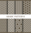 arabic or asian seamless pattern set from simple vector image vector image