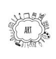 Artist tools sketch hand drawn bubbles vector image vector image