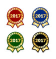 award ribbon the best vector image vector image