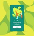 bearded gardener watering plants and trees in vector image