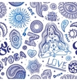 beautiful seamless yoga pattern with ornaments vector image vector image