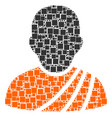 buddhist monk collage of squares and circles vector image vector image
