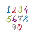 Calligraphic numbers numbers collection vector image vector image