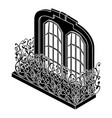 castle balcony icon simple style vector image vector image