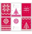 Christmas background of vector image vector image