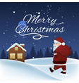 christmas landscape with snow forest vector image
