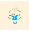 Christmas Rabbit and Falling Carrots vector image