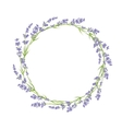 circle lavender flowers vector image