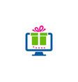computer gift logo icon design vector image vector image