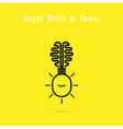 Creative brain logo and light bulb icon vector image vector image