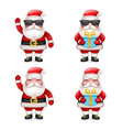 cute 3d realistic cartoon secret santa claus toy vector image vector image
