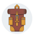 fashionable hipster leather backpack vector image vector image