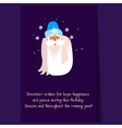 Father Frost Christmas Portrait Flat vector image vector image