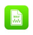 file wav icon digital green vector image vector image