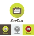 flat modern minimalistic briefcase logo vector image vector image