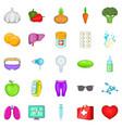 folk remedies icons set cartoon style vector image vector image