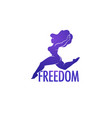 freedom or i love my body body positive vector image vector image