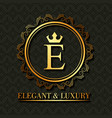 golden elegant and luxury monogram round frame vector image vector image
