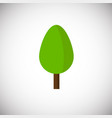 green flat tree on white background vector image