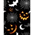 Halloween terror background pattern vector image vector image