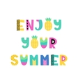 Hand drawn phrase in summer style vector image