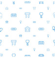 hanging icons pattern seamless white background vector image vector image