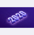 happy new year 2020 isometric typographic vector image