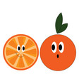 happy orange on white background vector image vector image