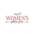 happy women s day minimalist design - badge vector image vector image