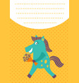 horse card vector image vector image