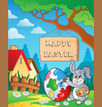 image with easter bunny and sign 8 vector image