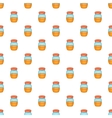 Jam in glass jar pattern cartoon style vector image vector image