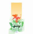 juicy summer vertical banner vector image
