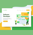 Landing page template software developer
