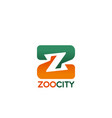 letter z icon for zoo city vector image vector image