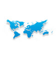 map of world simple blue gradient silhouette with vector image