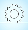 Mechanical cog wheel abstract background vector image vector image