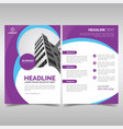 modern purple business flyer template vector image vector image
