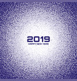 new year 2019 card christmas violet circle frame vector image