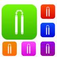 nunchaku set color collection vector image