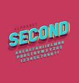 original 3d display font design alphabet letters vector image vector image