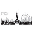 paris skyline silhouette 4 vector image