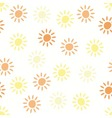 pattern with sun symbols vector image